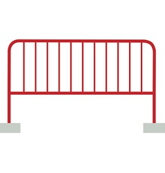 Red barrier vector