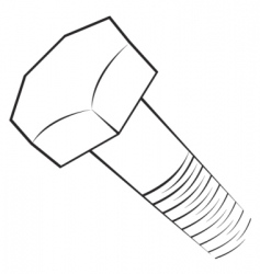 screw symbol vector image