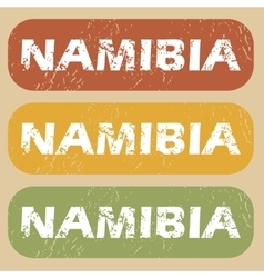 Vintage namibia stamp set vector