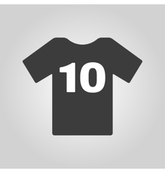 The sports t-shirt with the number 10 icon shirt vector