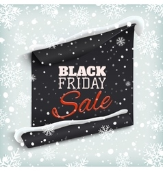 Black friday sale curved paper banner vector