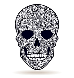 Skull black white vector