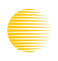 Sun logo round circle triangle lines halftone vector