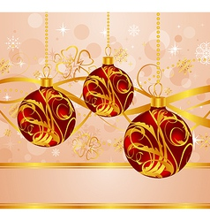 abstract background with christmas balls - vector image vector image