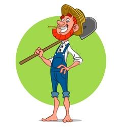 bearded farmer vector image