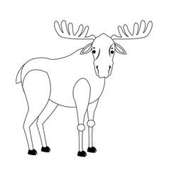 Deer animal icon vector