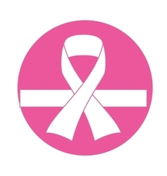 Emblem breast cancer defense design vector