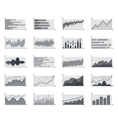 financial market information business graphs vector image vector image