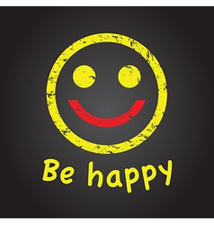 happy faces vector image vector image