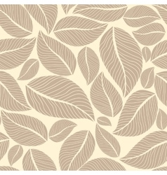 Leaves flowers seamless pattern background vector image vector image