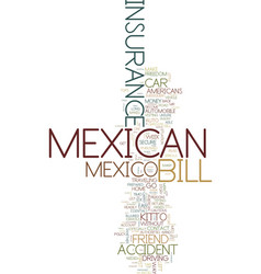 Mexican car insurance don t leave home without it vector