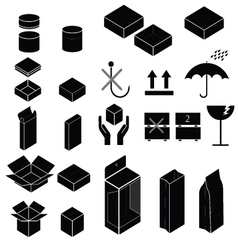 Packaging and fragile symbol vector image