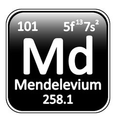 Periodic table element mendelevium icon vector