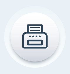 Printer icon linear style vector