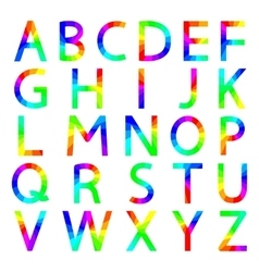 Rainbow letters of the alphabet vector