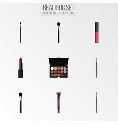Realistic make-up product contour style kit day vector