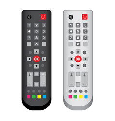 Remote control black and white isolated on white vector
