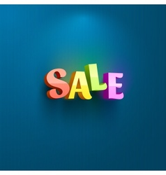 Sale placard for advertising vector image vector image