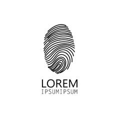 sign fingerprint vector image vector image