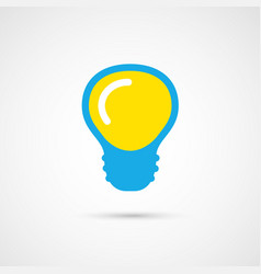 Single color light bulb vector