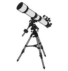 Small astronomic telescope vector