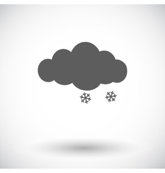 Snow icon vector image