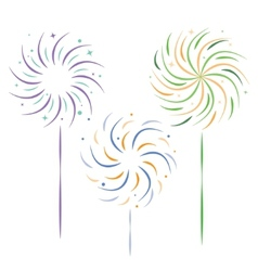 Sparklers vector