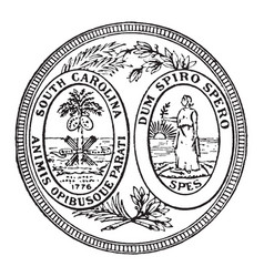 The great seal of the state of south carolina vector
