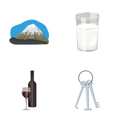 Travel alcohol and other web icon in cartoon vector