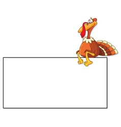 turkey and blank vector image