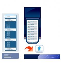 website navigation templates vector image