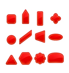 Red labels and stickers set vector