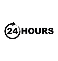 24 hours icon black vector image vector image