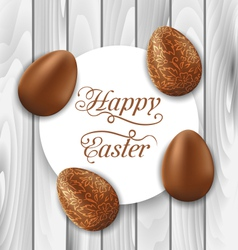 Greeting card with easter chocolate ornamental vector