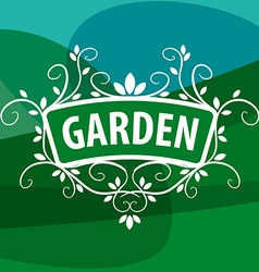 Logo ornament from plants for the garden vector