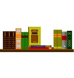 6206 bookshelf vector image vector image