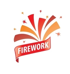 Logo for fireworks vector