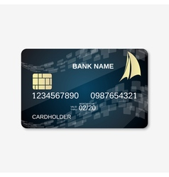 Bank card design template vector