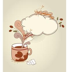 retro cup of coffee vector image
