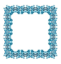 Square frame from abstract element vector