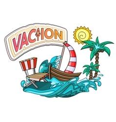 Vacation cartoon style vector