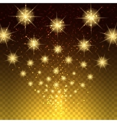 Glowing light stars background vector