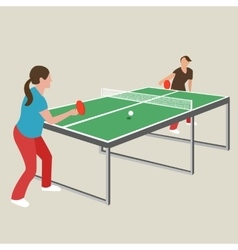 Table tennis ping pong woman female girl athlete vector