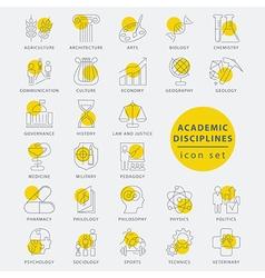 Thin line academic disciplines vector