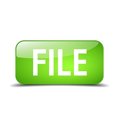 File green square 3d realistic isolated web button vector