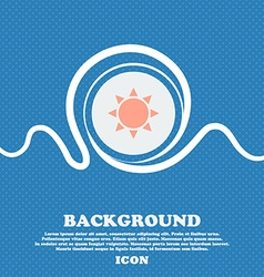 Sun icon sign blue and white abstract background vector