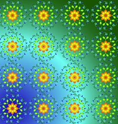 Abstract pattern of yellow and blue colors vector image vector image