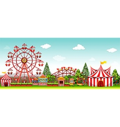 Amusement park at daytime vector image