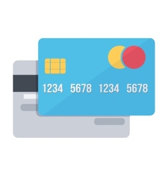 Bank credit cards electronic money vector