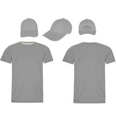 baseball cap and polo t shirt vector image vector image